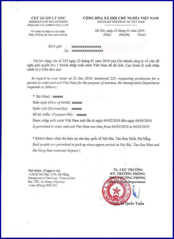 Approval Letter Template from www.visavietnamservices.com